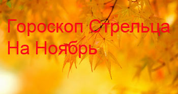 стрелец-ноябрь