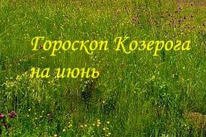 гороскоп козерога на июнь 2014